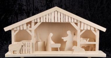 Eenvoudige Gefiguurzaagde Kerststal
